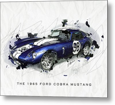 The 1965 Ford Cobra Mustang Metal Print by Gary Bodnar