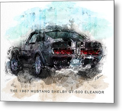 The 1967 Shelby Gt-500 Eleanor Metal Print by Gary Bodnar