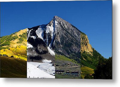 The 4 Seasons In Mt. Crested Butte Metal Print by Mike Schmidt