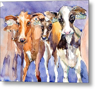The 408 Girls Metal Print by Judith Levins