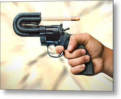 The 44 Magnum Justifier Metal Print by Mike McGlothlen