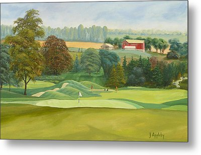 Metal Print featuring the painting The 9th by Jo Appleby