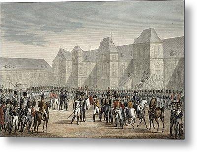 The Abdication Of Napoleon Metal Print