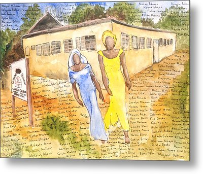 The Abducted Girls Of Chibok Metal Print