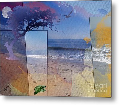 The Abstract Beach Metal Print by Bedros Awak