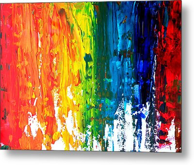 The Abstract Rainbow Beach Series I Metal Print by M Bleichner