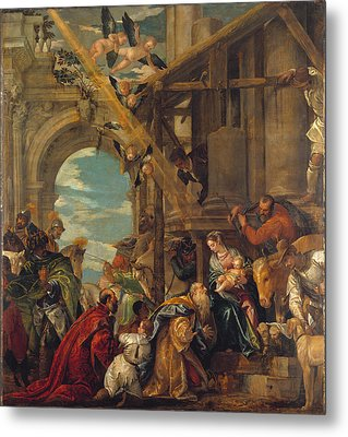 The Adoration Of The Kings Metal Print by Paolo Veronese