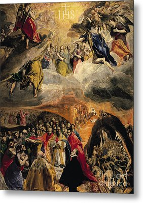 The Adoration Of The Name Of Jesus Metal Print by El Greco Domenico Theotocopuli