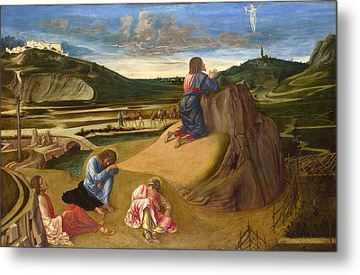 The Agony In The Garden Metal Print by Giovanni Bellini