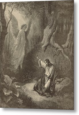The Agony In The Garden Metal Print by Antique Engravings
