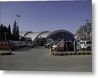 The Airport In Srinagar The Capital Of Jammu And Kashmir Metal Print by Ashish Agarwal