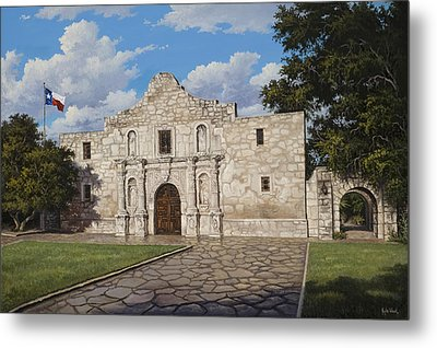 Metal Print featuring the painting The Alamo by Kyle Wood