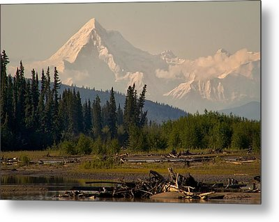 Metal Print featuring the photograph The Alaska Range At Mount Hayes by Michael Rogers