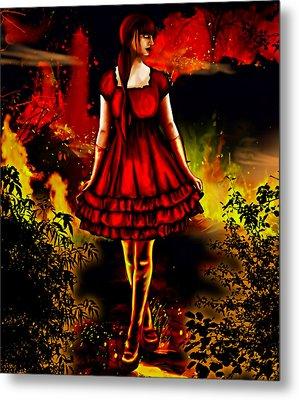 The Alice Girl Metal Print