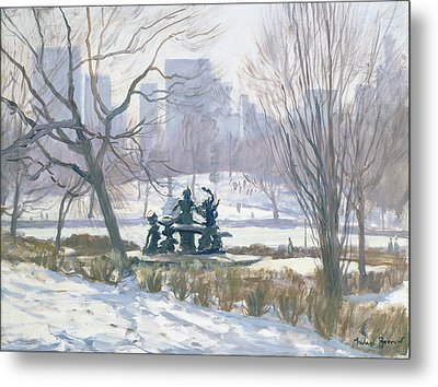 The Alice In Wonderland Statue, Central Park, New York Metal Print by Julian Barrow