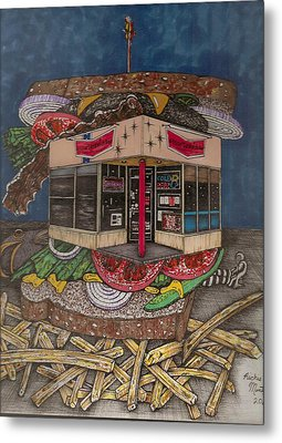 The All Star Sandwich Bar Metal Print by Richie Montgomery