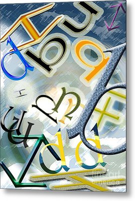 The Alphabetics Metal Print