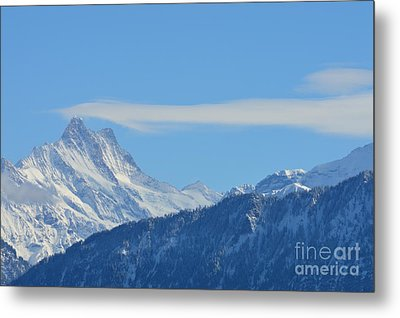 The Alps In Azure Metal Print by Felicia Tica