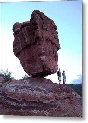 Metal Print featuring the photograph The Amazing Balanced Rock 2 by Sheila Byers