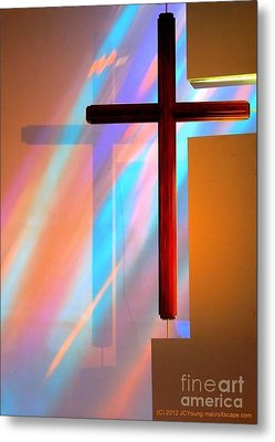 The Amazing Cross Metal Print by JCYoung MacroXscape