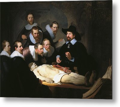 The Anatomy Lesson Of Dr. Nicolaes Tulp Metal Print by Rembrandt van Rijn