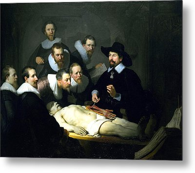 The Anatomy Lesson Metal Print by Rembrandt