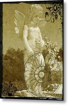 The Angel - Art Nouveau Metal Print by Absinthe Art By Michelle LeAnn Scott