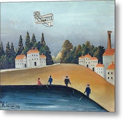 The Anglers, C.1908-09 Oil On Canvas Also See 309520 Metal Print by Henri J.F. Rousseau