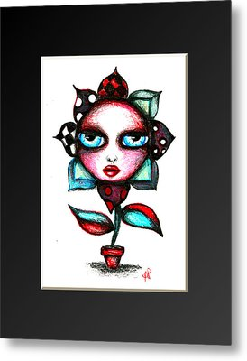 The Angry Flower Ver 2 Metal Print by Angie Phillips
