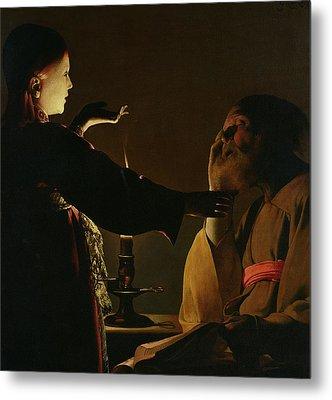 The Appearance Of The Angel To Saint Joseph Metal Print by Georges de la Tour