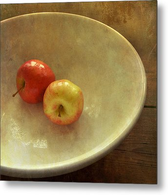 The Apple Bowl Metal Print by Sally Banfill