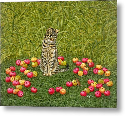 The Apple Mouse Metal Print by Ditz