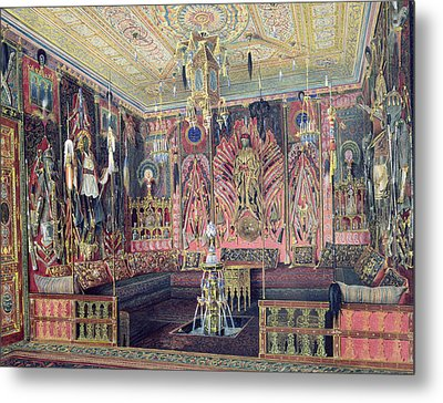 The Arabian Hall In The Catherine Palace At Tsarskoye Selo, C.1850 Wc & White Colour On Paper Metal Print