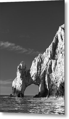 The Arch In Black And White Metal Print