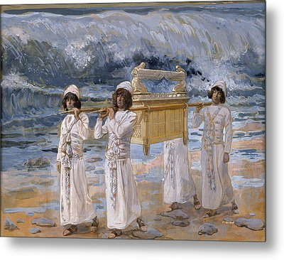 The Ark Passes Over The Jordan Metal Print by James Jacques Joseph Tissot