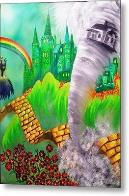 Metal Print featuring the painting The Arrival Revisited by The GYPSY And DEBBIE