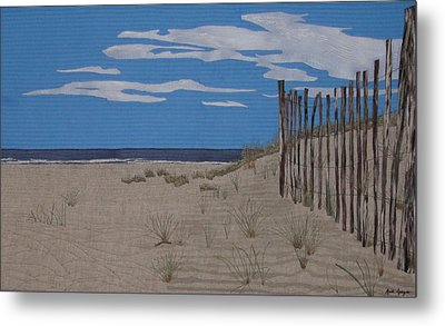 The Art Of Fencing Metal Print by Anita Jacques