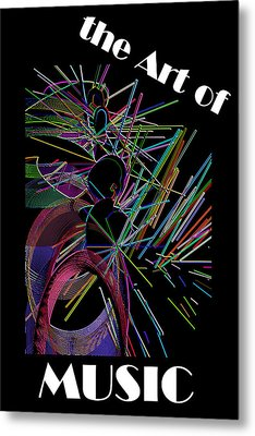 The Art Of Music With Spy Metal Print by Stephen Coenen