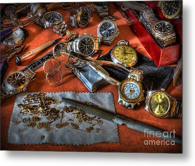 The Art Of The Timepiece - Watchmaker  Metal Print by Lee Dos Santos