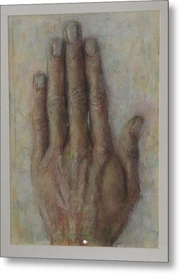 The Artist Hand Metal Print by Paez  Antonio