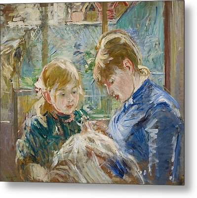 The Artists Daughter Metal Print by Berthe Morisot