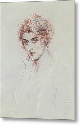The Artists Daughter Metal Print by Paul Cesar Helleu