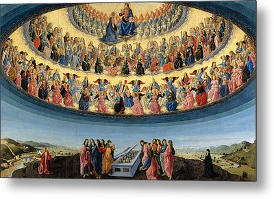 The Assumption Of The Virgin Metal Print by Francesco Botticini