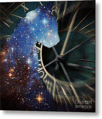 The Astronomer's Cat Metal Print