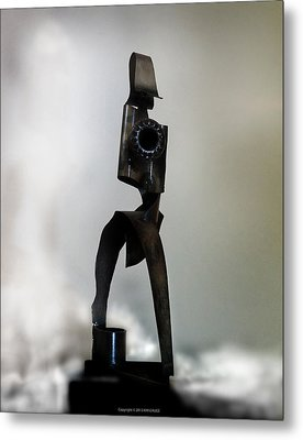 Metal Print featuring the sculpture The Athenian by Kim Gauge