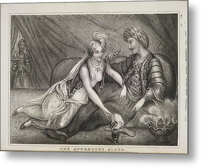 The Attentive Slave Metal Print by British Library