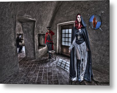 The Audition. Metal Print by Roy Burns