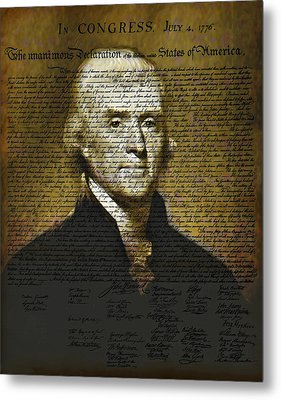 The Author Of America Metal Print by Bill Cannon