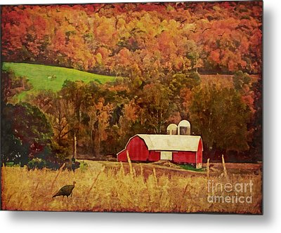 The Autumn Barn Metal Print by Lianne Schneider