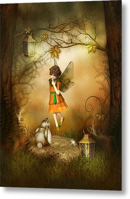 Metal Print featuring the digital art The Autumn Fairy by Jayne Wilson